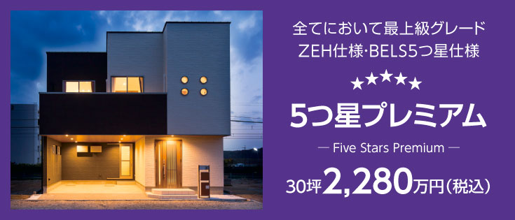 5つ星プレミアム 30坪2,280万円(税込)