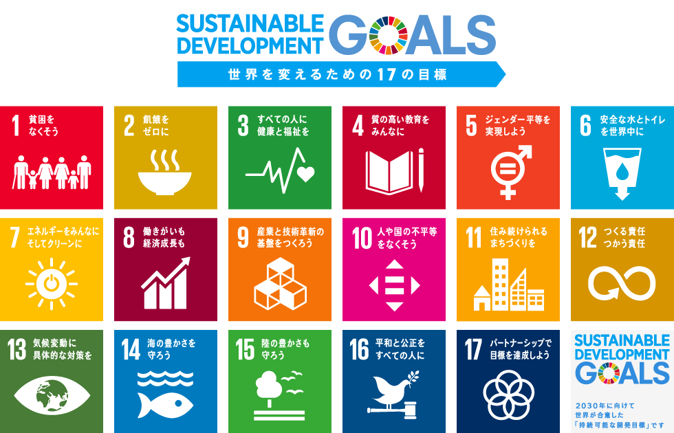 Sustainable Development Goals:持続可能な開発目標